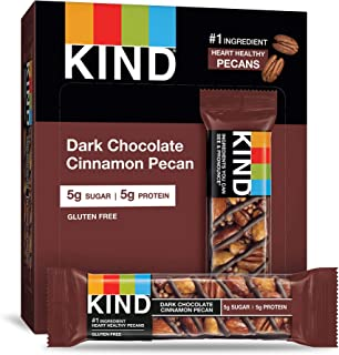 product image for KIND Bars, Dark Chocolate Cinnamon Pecan, Gluten Free, Low Sugar, 1.4oz, 4 Count (Pack of 12)
