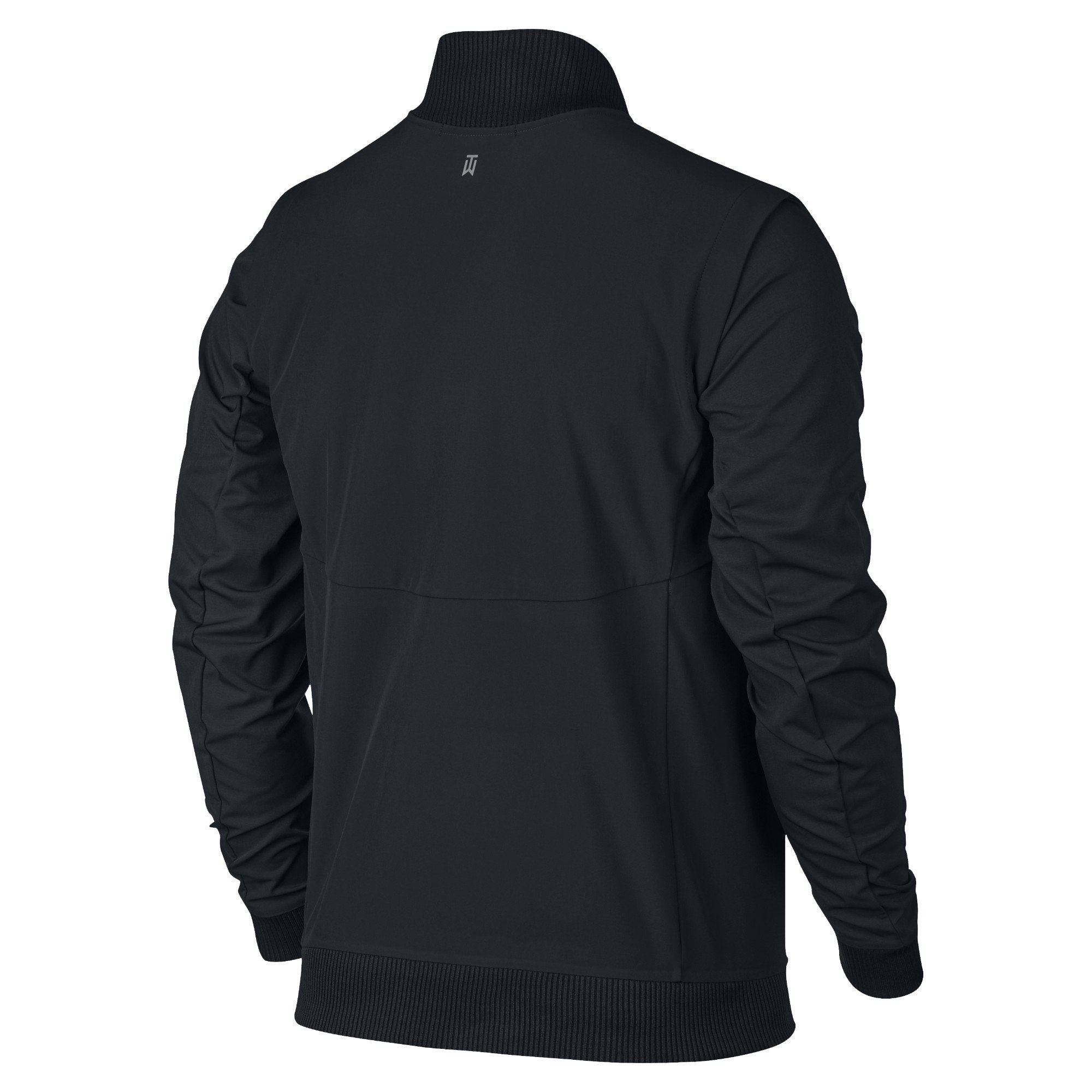 Nike TW (Tiger Woods Collection) Hyperadapt Men's Golf Bomber Jacket (Small, Black/Flat Silver) by Nike (Image #2)