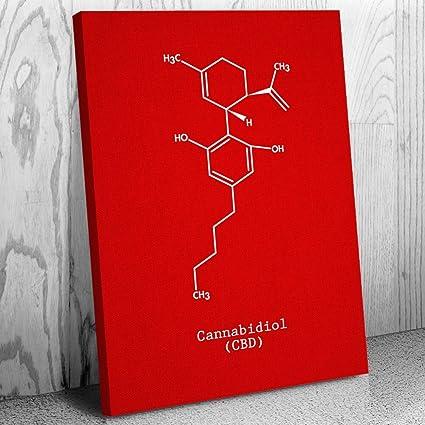 Amazon com: Patent Earth CBD Molecule Canvas Print