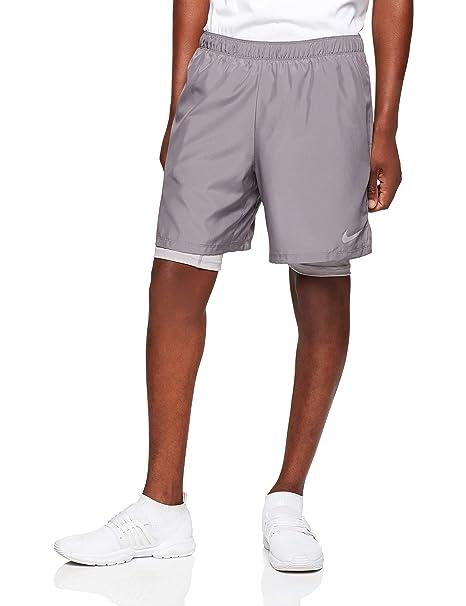 c70a2ad0b5 Nike Challenger 2-in-1, Pantaloncini Uomo, Gunsmoke/Atmosphere Grey,