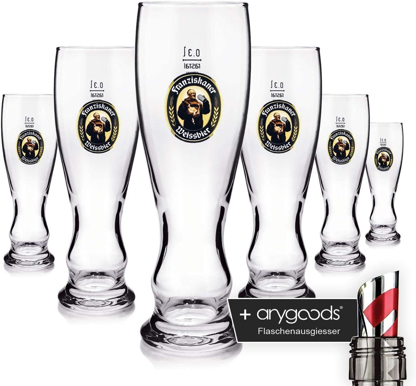 6x hoegaarden cerveza vasos 0,3l cerveza cristal Gastro Bar Decoración