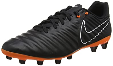 c87200c124f Nike Men s Tiempo Legend VII Academy FG Cleats (Black Orange White) Size