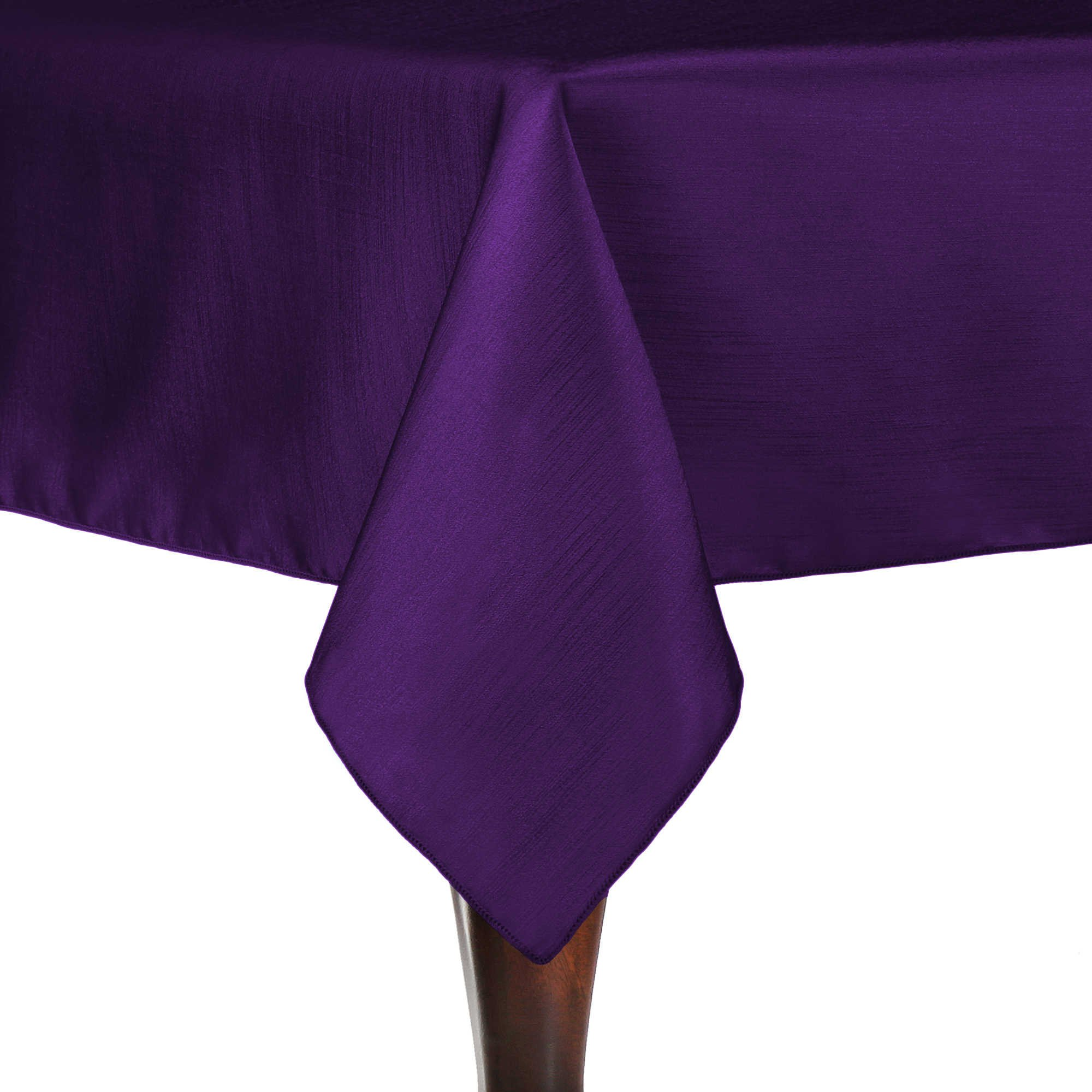 Ultimate Textile (10 Pack) Reversible Shantung Satin - Majestic 60 x 120-Inch Rectangular Tablecloth - for Weddings, Home Parties and Special Event use, Purple by Ultimate Textile