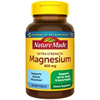 Nature Made Extra Strength Magnesium Oxide 400 mg Softgels, 60 Count (Packaging...