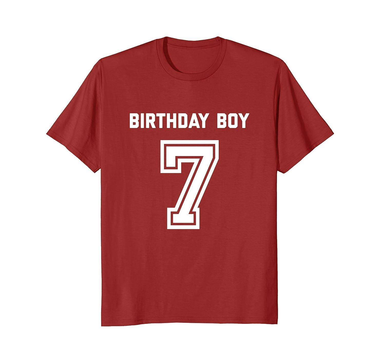 7th Birthday Shirt Gift Age 7 Year Old Boy Tshirt Boys Tee Prm