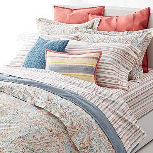 Amazon Com Lauren By Ralph Lauren Cayden Paisley Duvet Cover Set