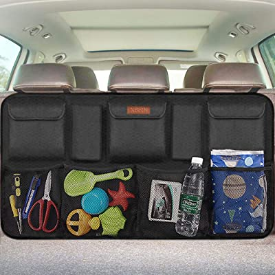 Backseat Trunk Organizer for SUV & Car Hanging Organizer Foldable Cargo Storage Bag with 9 Pockets Adjustable Strap Durable Cover and Fit for Most Vehicles: Automotive [5Bkhe0112609]
