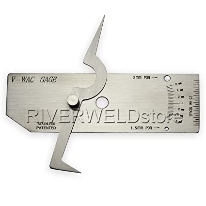 V-Wac Gage Single Welding Gauge Inspection Metric Stainless Steel