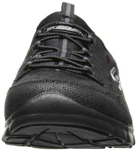 Deslizan Mujeres Skechers Negras Simplemente 22774 Sereno Zapatos Se 8xzxTF