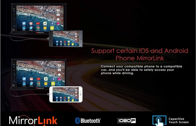 Nakamichi NAM1700 7 2Din iOS Android Mirrorlink Bluetooth USB TF Car Stereo Receiver Head Unit