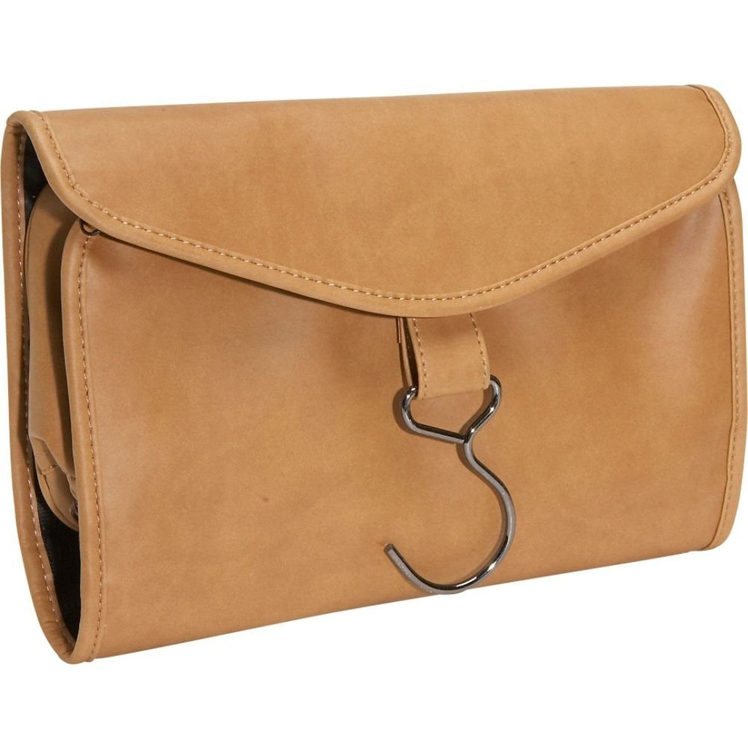 Royce Leather Hanging Toiletry Bag (Tan)
