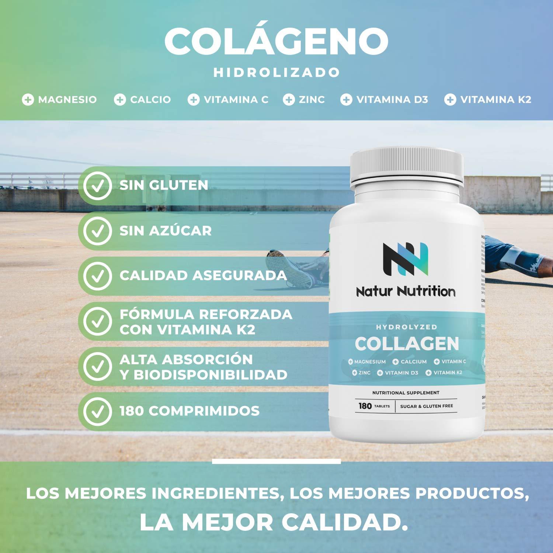 Colágeno con Magnesio. Colágeno hidrolizado con ácido hialurónico ...
