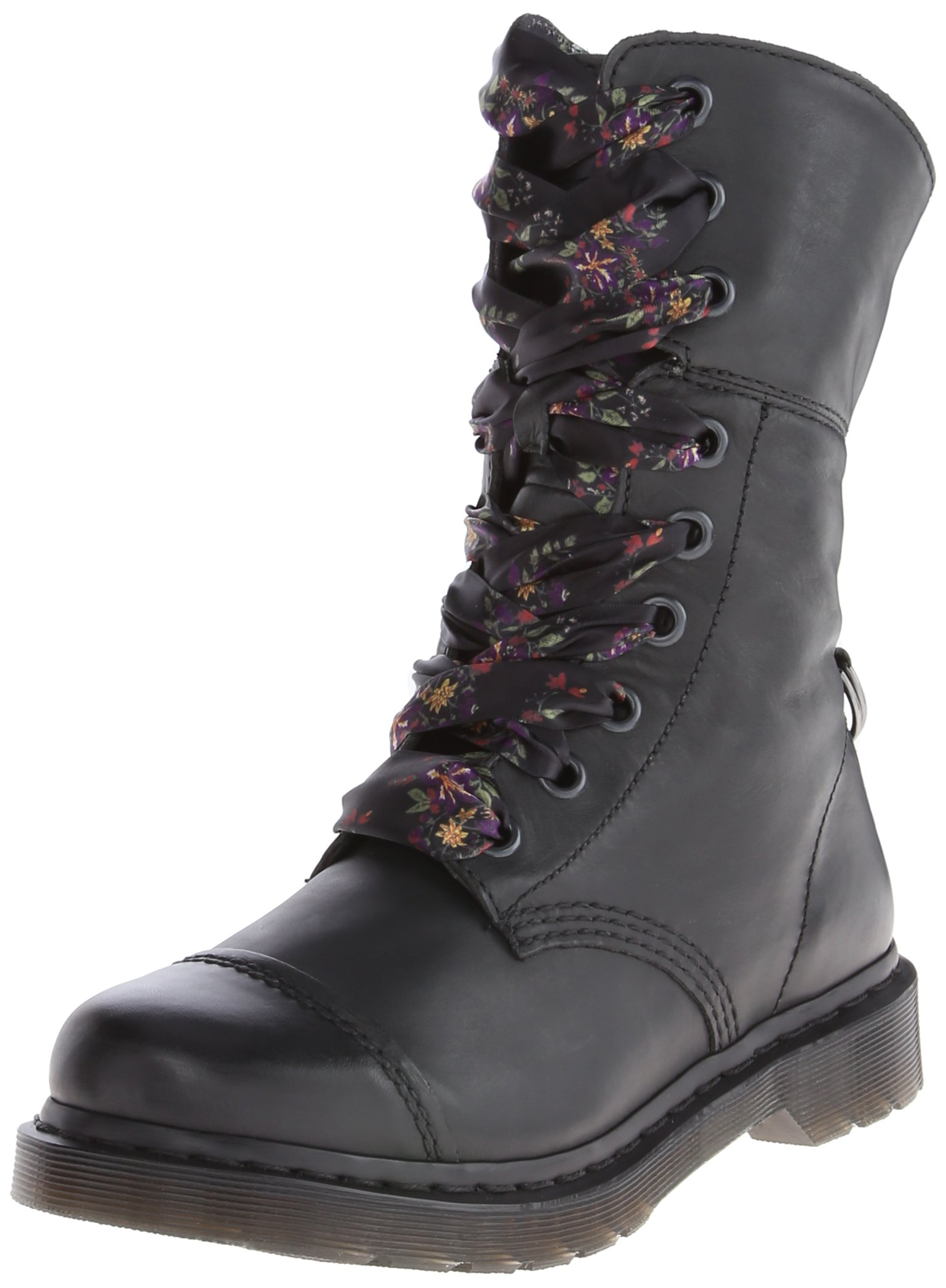 Dr. Martens Women's Aimilita 9 Eye Toe Cap Boot,Black,3 UK/5 M US by Dr. Martens