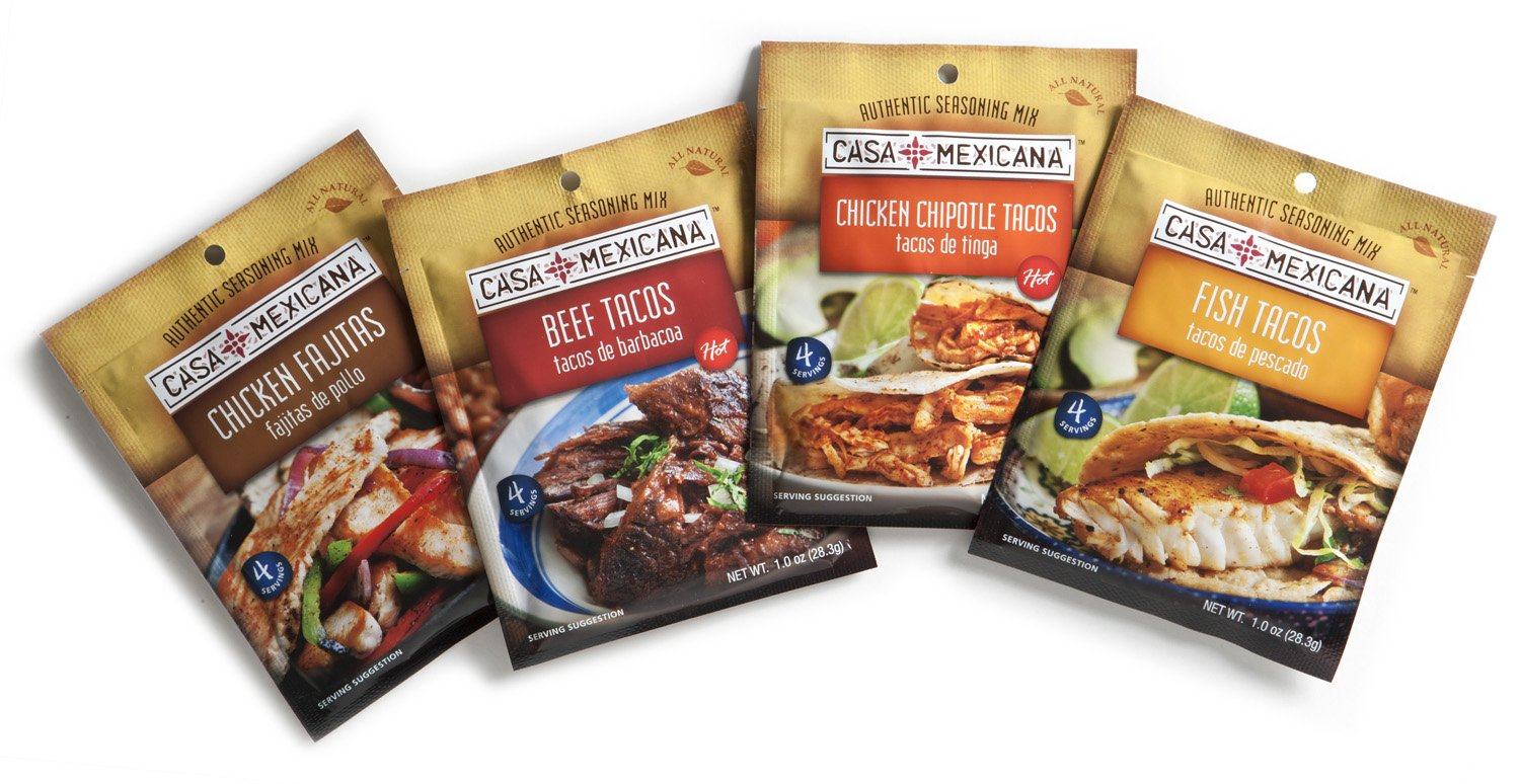 Amazon.com : Casa Mexicana Seasoning Mixes - Variety-Pack, 1-Ounce, (Pack of 12) : Mexican Seasoning : Grocery & Gourmet Food