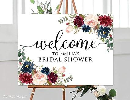 amazon com dozili welcome bridal shower sign marsala bridal shower