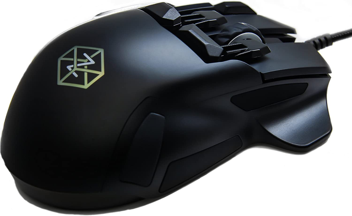 Swiftpoint Z Gaming Mouse, 13 Programmable Buttons, 5 with Pressure Sensors, Analog Joystick Control for FPS Peeking and Flying, 12K DPI, OLED RGB MMO