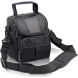 Techzere Fosoto R1 Waterproof Black Camera Case Bag for Canon, Nikon, Sony DSLR Cameras