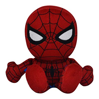 "Bleacher Creatures Marvel Spiderman 8"" Kuricha Sitting Plush - Soft Chibi Inspired Toy: Toys & Games"