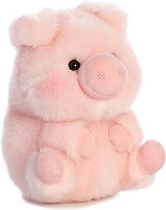 "Aurora World 16833 Rolly Pet Prankster Pig Plush, 5"", Pink"