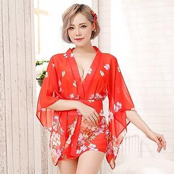 Las Mujeres Atractivas Pijamas Transparentes Última Tentación Uniforme Nightclub Etapa Espectáculo Polo Baile Impresión Sex Kimono