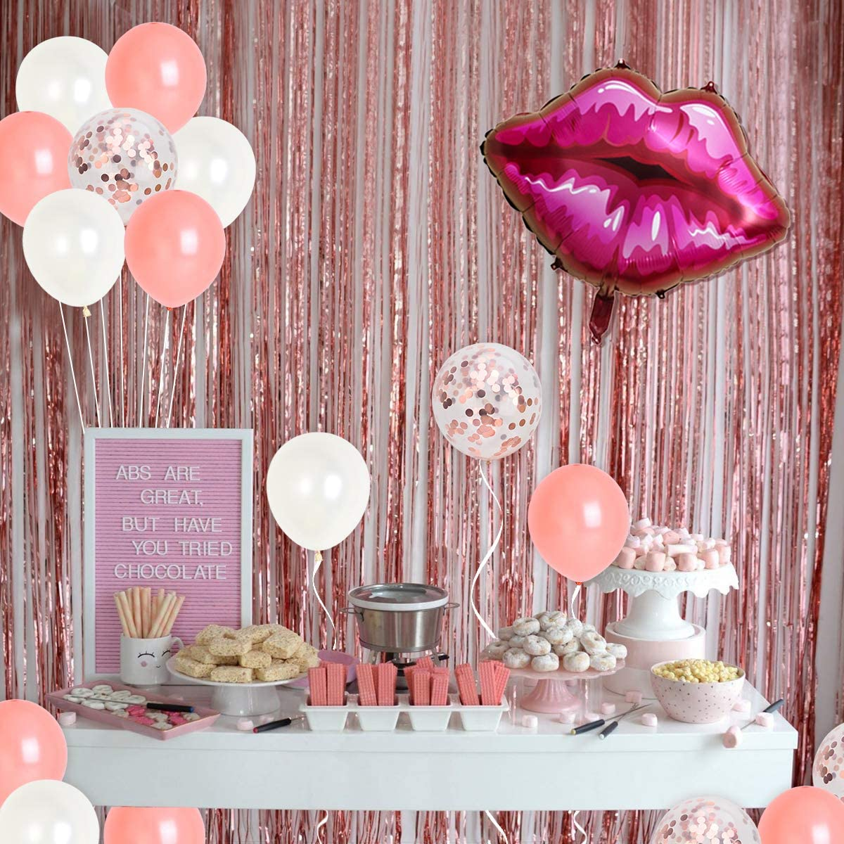 22nd Birthday Party Decorations Rose Gold Feeling 22 Birthday Decorations for Her Women with Im Feeling 22 Sash Cake Topper Fringe Curtains Feelin 22 Balloons