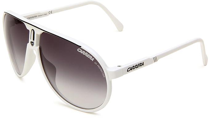 c4472dac6c1 Carrera Champion L S Aviator Sunglasses White   Black Frame Grey Gradient  Lens