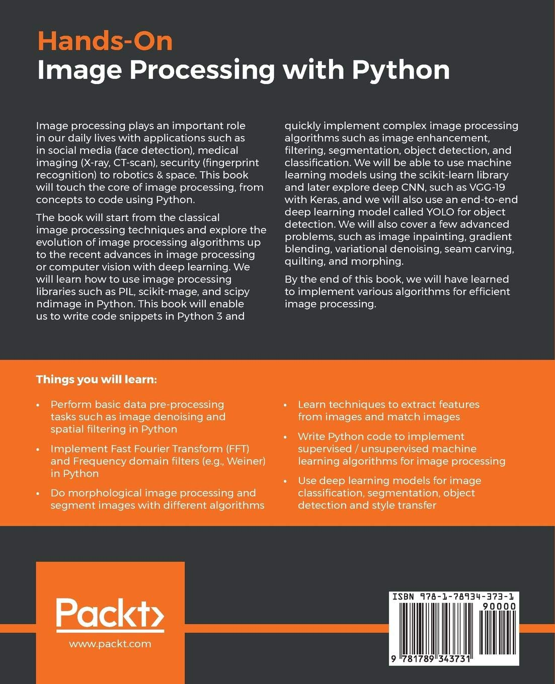 Hands-On Image Processing with Python: Expert techniques for