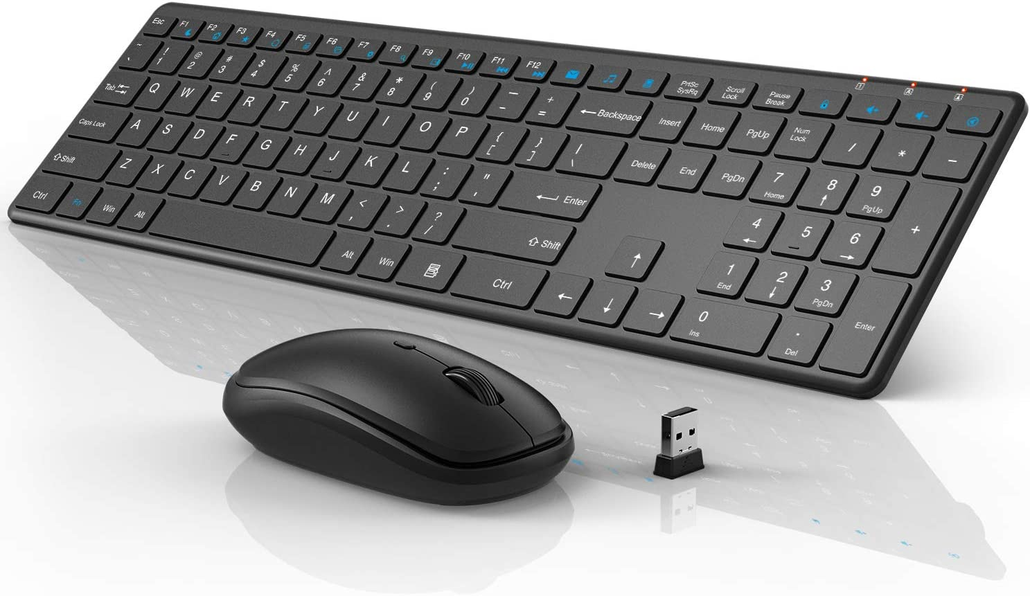 Keyboard Mouse Set Computer Keyboard Notebook Keyboard Wired and Wireless Black-Wired