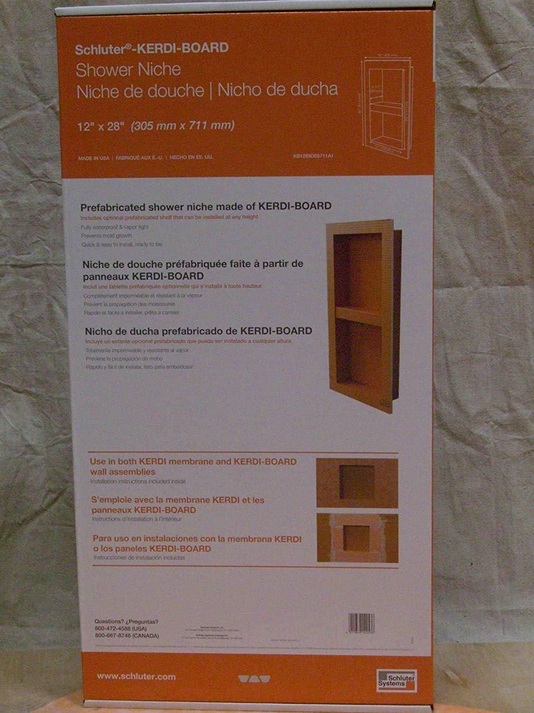 """Schluter KERDI-Board-SN: Shower Niche (with Shelf) 12""""x28"""" (1)"""
