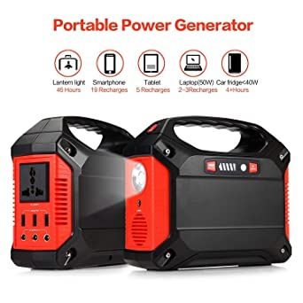 220V AC Outlet 3 DC 12V USB Port InLoveArts Portable Generator Power Inverter 42000mAh 155Wh Rechargeable Battery Pack Emergency Power Supply