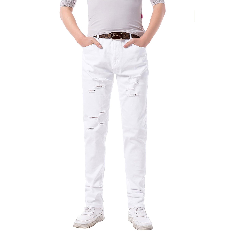 38W Robelli Men/'s Dark Blue Designer Slim Denim Stretch Jeans