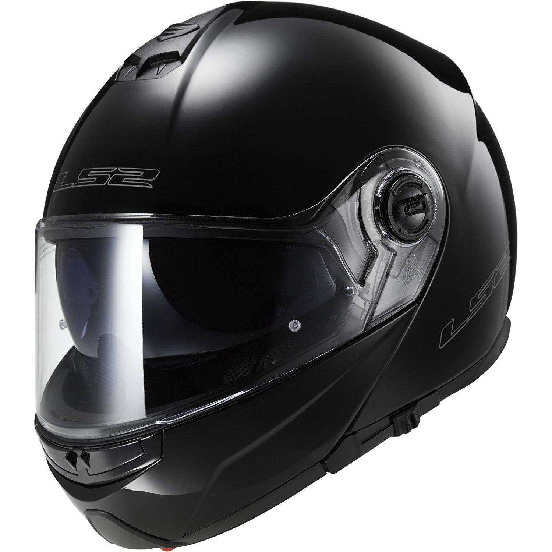LS2 FF325 STROBE Motorradhelm Klapphelm mit Sonnenblende Touring Motorroller Helm Matt Schwarz L
