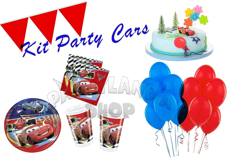 Partylandia Kit de Fiesta de cumpleaños Cars para 16 ...