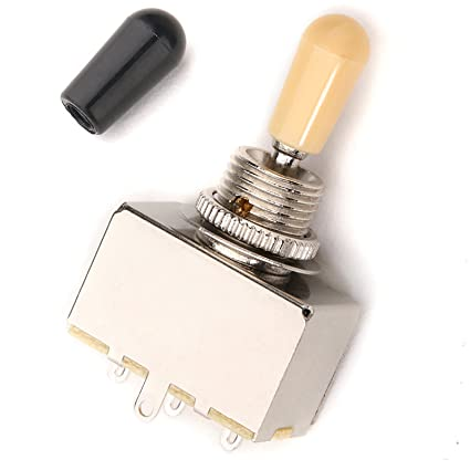 Amazon.com: Musiclily Metric 3-Position Sealed Box Toggle Pickup Selector Switch for Gibson Epiphone Les Paul Guitar, With Cream Black Dual Tips: Musical ...