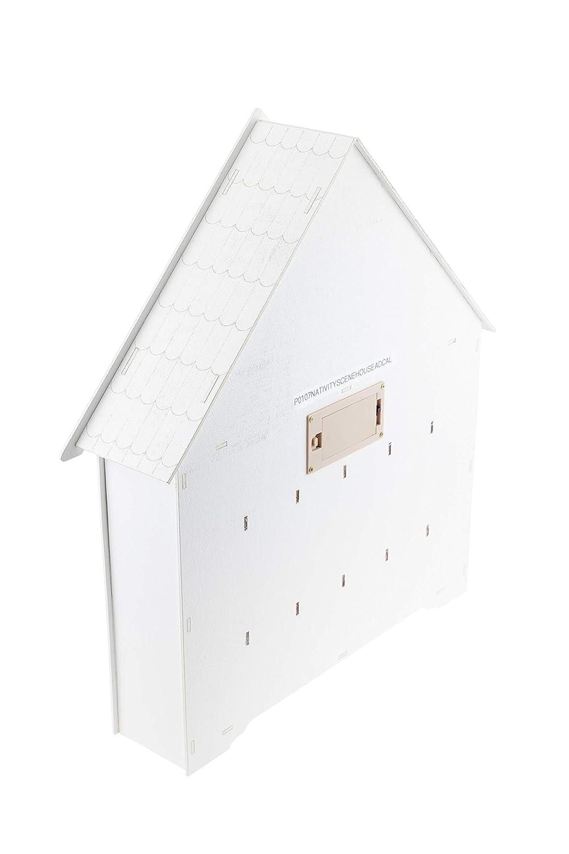 Clever Creations sc/ène de la Nativit/é /éclairage LED//Piles Non-incluses- 44,5 x 10 x 40,5 cm Calendrier de lAvent /à tiroirs num/érot/és