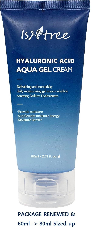 ISNTREE Hyaluronic Acid Aqua Gel Cream 2 71 fl oz  (80ml) Night Cream, Day  Cream, Deep Moisturizing,