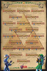 Pyramid America Zelda Ocarina of Time Songs Video Game Gaming Cool Wall Decor Art Print Poster 24x36