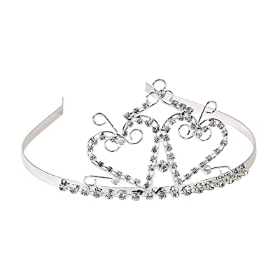 Fun Express - Double Heart Tiara - Apparel Accessories - Hats - Tiaras & Crowns - 1 Piece: Toys & Games