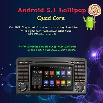 Fit Für Mercedes Benz M Ml Klasse W164 Gl Klasse X164 Android 5 1 Os Quad Core 1024 600 Hd Touchscreen In Dash Stereo Autoradio Dvd Player Mit Gps Navigation Navigation