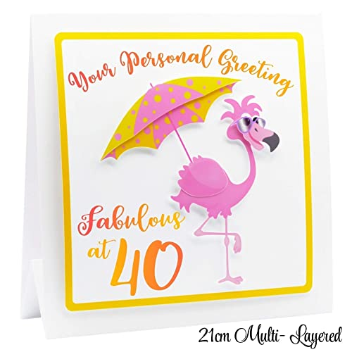 40th Birthday Card For Women 3d Personalised Funny 40th Birthday