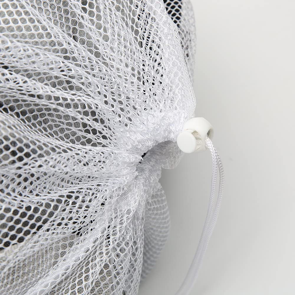 Set of 2 Durable Coarse Mesh Laundry Bag with Lockable Drawstring for Big Clothes Vivifying Large Washing Net Bags White Duvet Cover