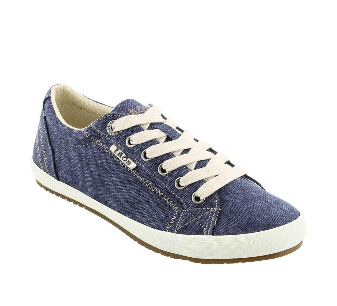 Taos Footwear Women's Star Blue Wash Canvas Sneaker 8 B (M) US