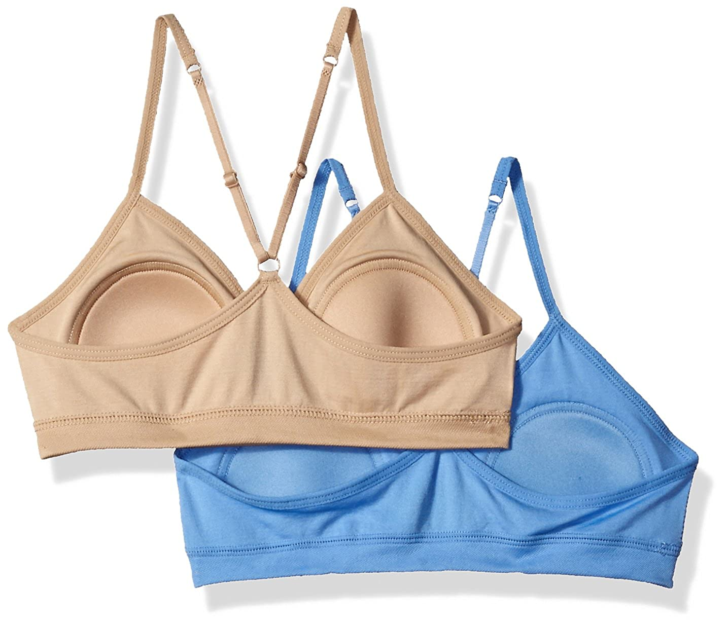 Hanes Girls Big Comfort Flex Fit Seamless on The Go Racerback Bra 2-Pack H198