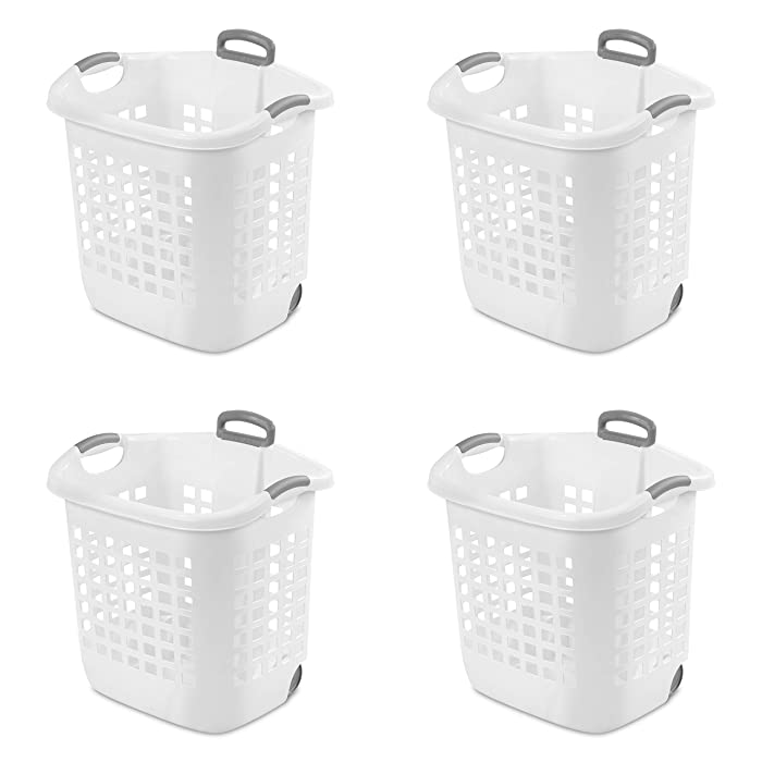 STERILITE 12248004 Laundry Basket, 62 L, White