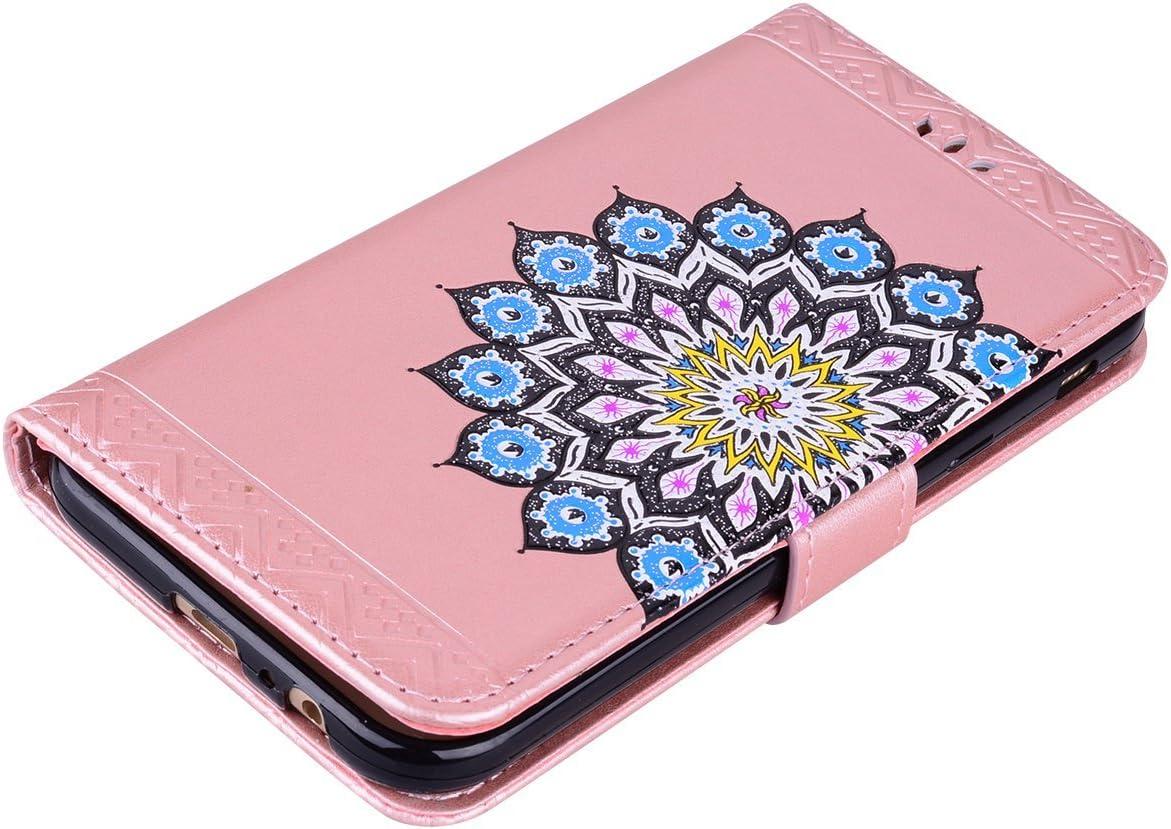 Glitter Mandala Gemalt Blumen Leder Handy Case WIWJ Galaxy A5 2017 H/ülle,Galaxy A5 2017 Leder Handyh/ülle Flip Leder Handyh/ülle Wallet Case Tasche Schutzh/üllen f/ür Samsung Galaxy A5 2017-Grau