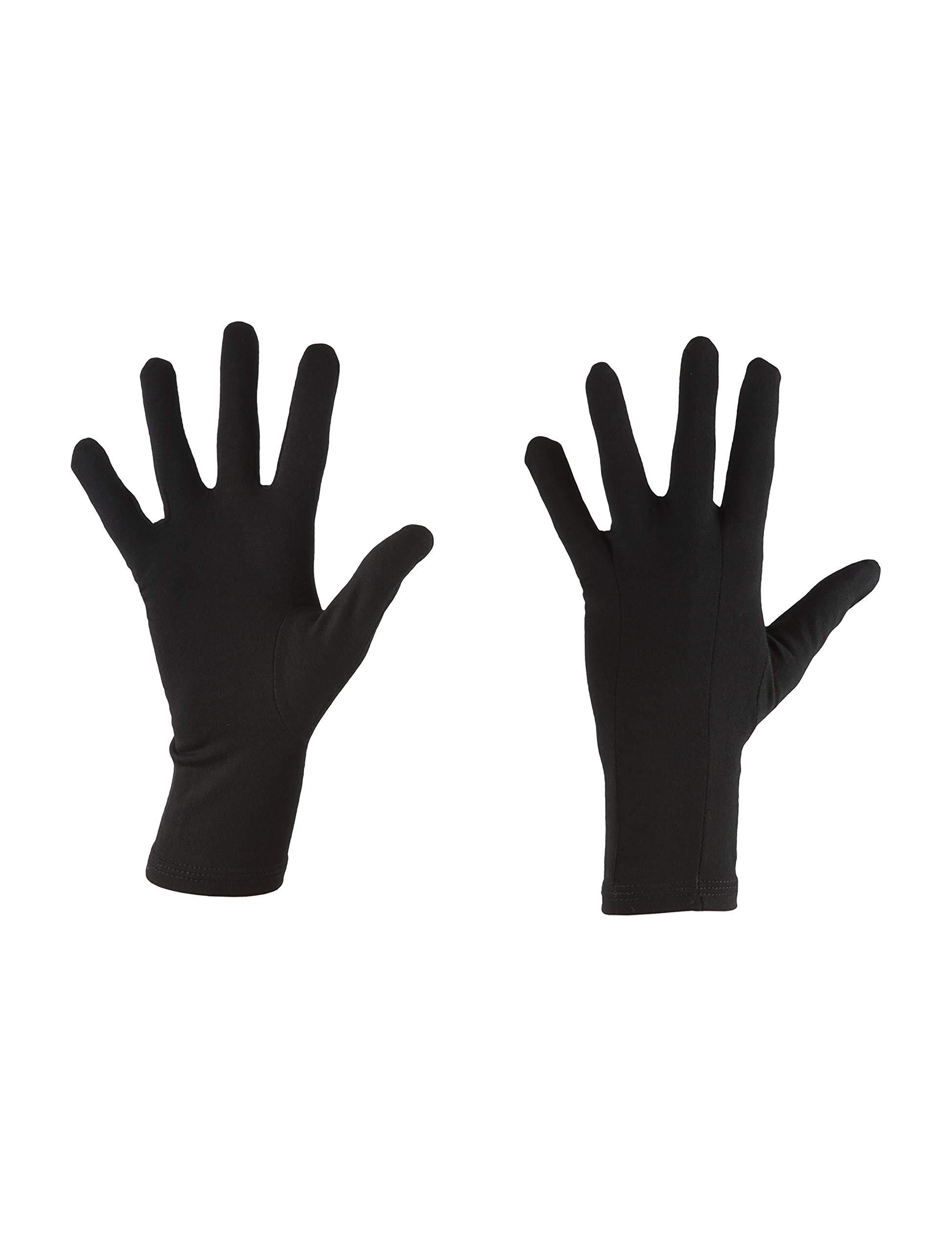 Icebreaker Merino Unisex Adult 200 Oasis Glove Liner, Black, L by Icebreaker Merino (Image #1)
