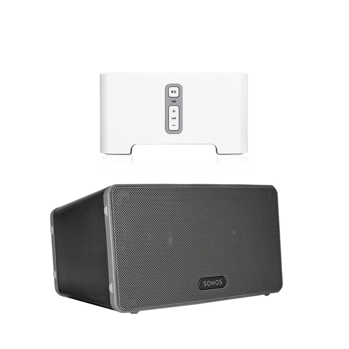 Sonos CONNECT Wireless Receiver for Streaming Music Bundle & Sonos PLAY:3 Wireless Speaker, Single - Black by Sonos