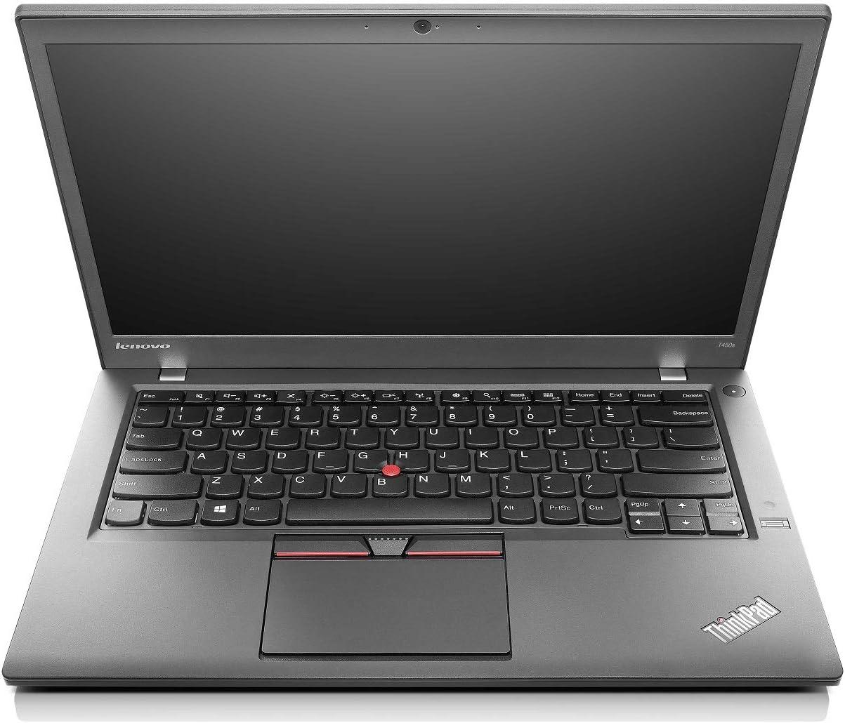 Lenovo ThinkPad T450s 14in Laptop, Intel Core i5 5300U 2.3Ghz, 8GB DDR3 RAM, 256GB SSD Hard Drive, Webcam, Windows 10 (Renewed)