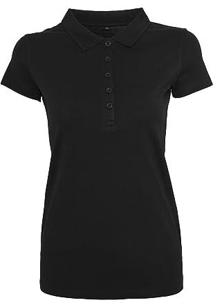 205dc3e61529ab Damen Frauen Polo Poloshirt Hemd T-shirt Kragen Kurzarm Figurbetont ...