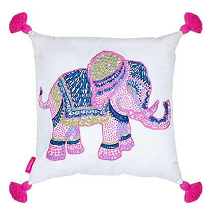 Amazon Lilly Pulitzer Large Pillow Elephant Home Kitchen Enchanting Lilly Pulitzer Decorative Pillows
